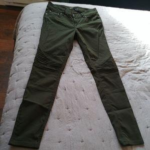 Olive Green Prana Brenna Biker Moto Pants Size 4